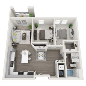 Rendering of the # 258 floor plan