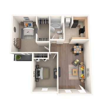 Rendering of the The Cyprus - Renovated floor plan layout
