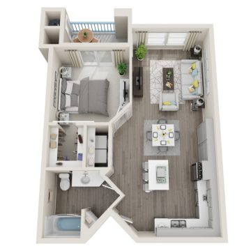 Rendering of the # 1146 floor plan