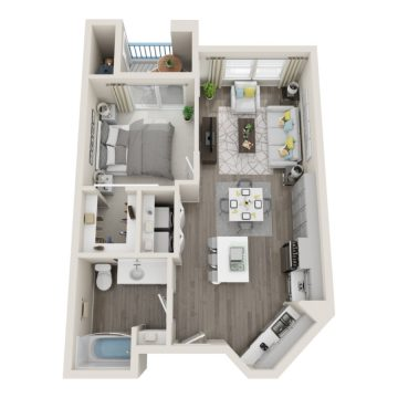 Rendering of the  3013 floor plan