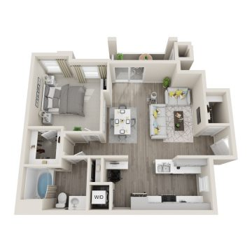 Rendering of the # 1096 floor plan